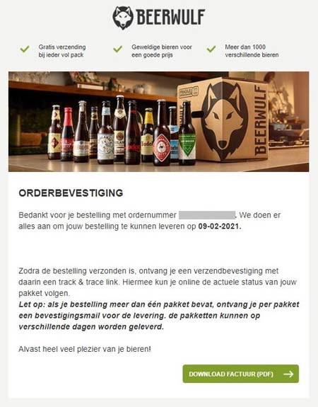 beerwulf confirmation email examples