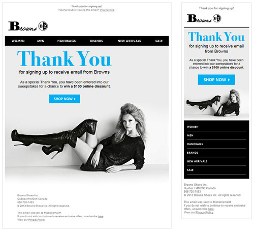responsive email header and footer