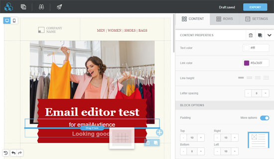 Best drag and drop email template builder
