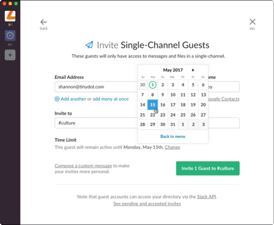 Invite guests client onboarding