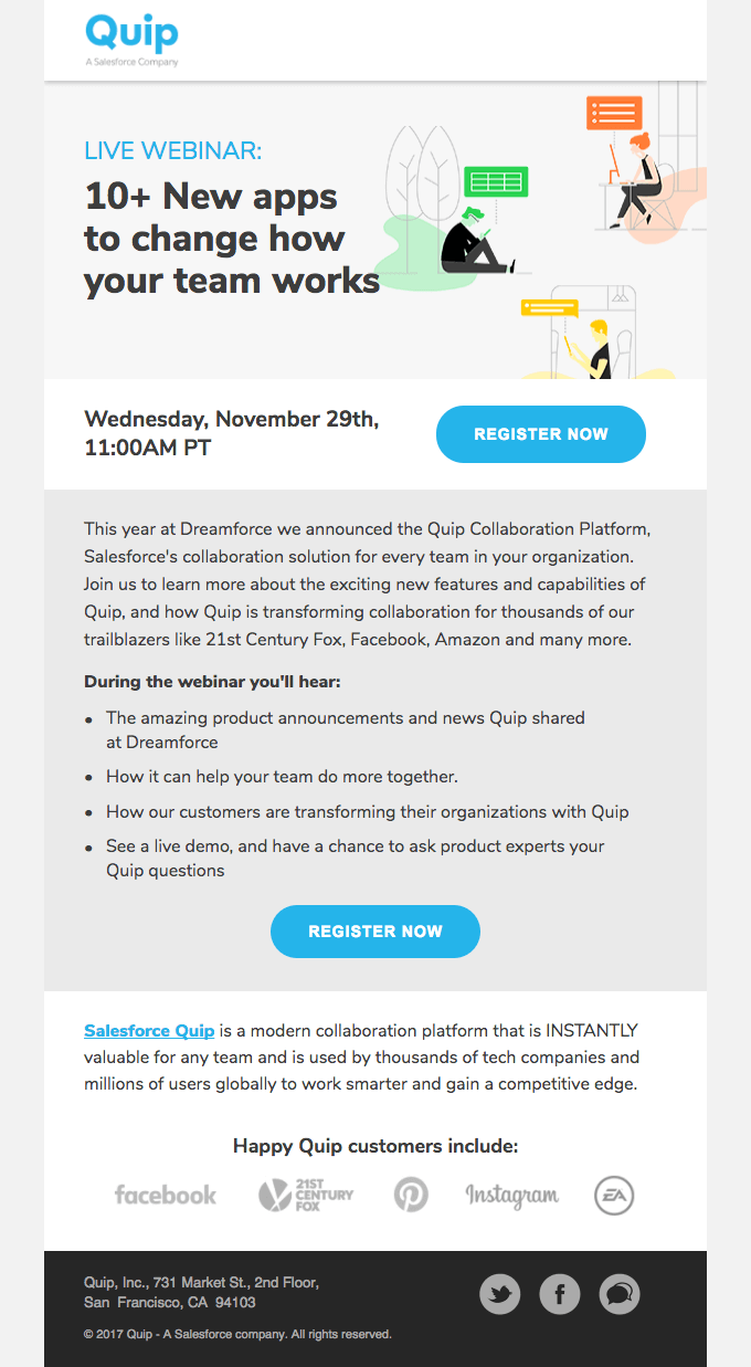 Promote upcoming webinar retention email AARRR