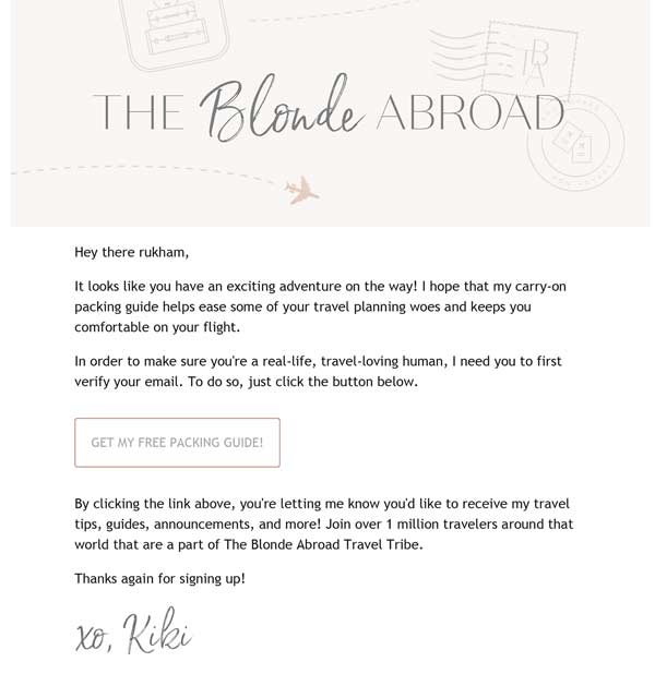 bloggers email marketing blonde abroad