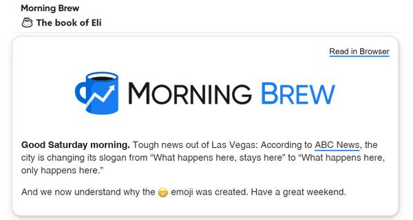 bulk email newsletter example morning brew