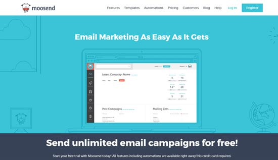 email marketing software for bloggers moosend