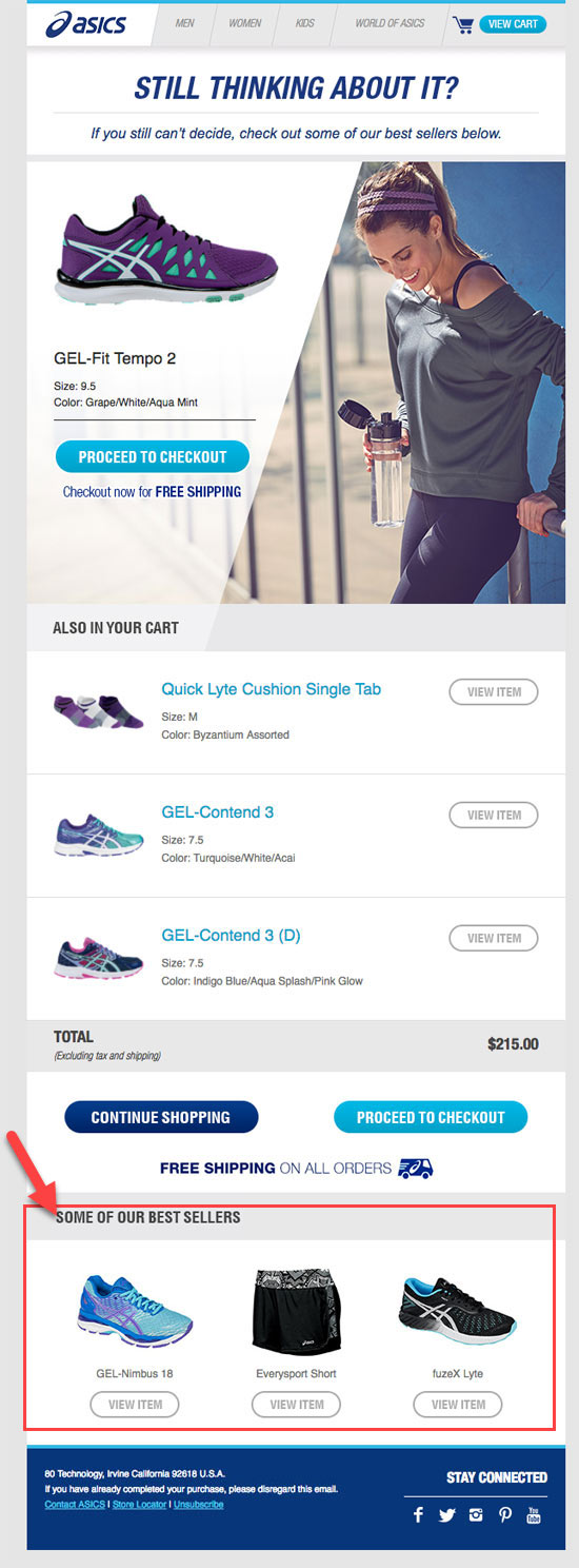 email price drop abandonned cart email