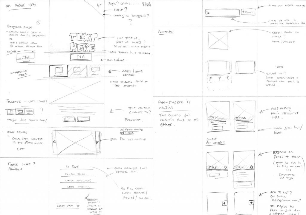 ideas email template elements sketch