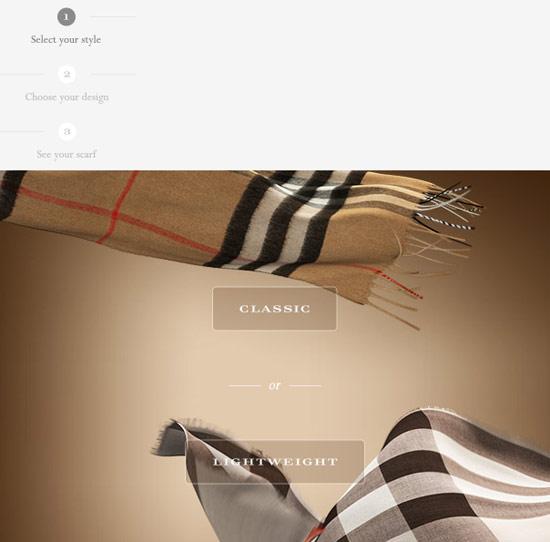interactive email burbury
