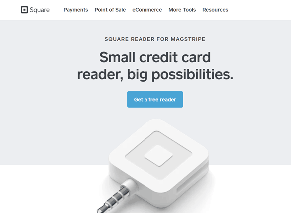 landing page example square