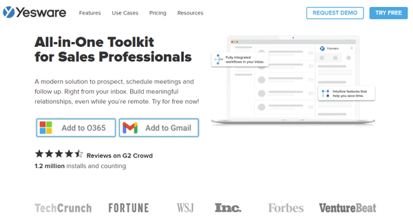 yesware email follow up tool